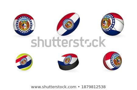 Missouri futbol bayrak kask 3d render kare Stok fotoğraf © Koufax73