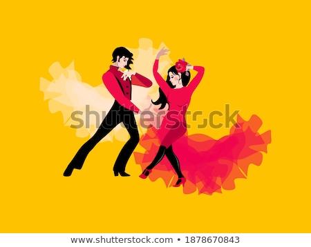 Flamenco cartão postal música festa moda Foto stock © carodi