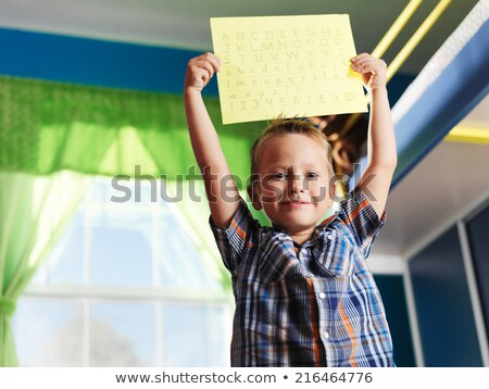A worksheet showing a young boy Stock photo © bluering
