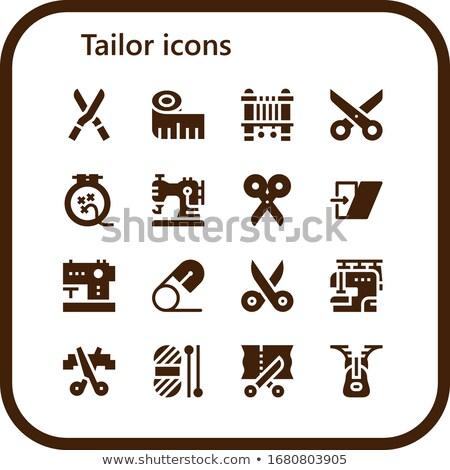 Coser herramientas vector silueta iconos siluetas Foto stock © vectorikart