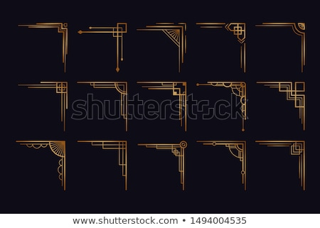 Golden Border Design stock photo © hpkalyani