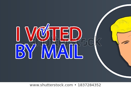 vote and election label theme Stock photo © vector1st