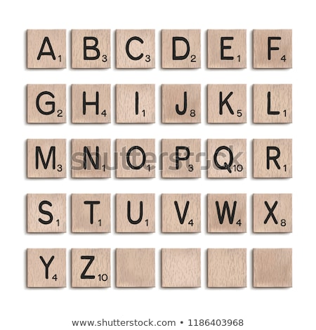 Stock photo: Puzzle with word ABC