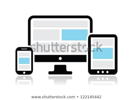 Network and Responsive Adaptive Web Design with Vector Icons Stock photo © Photoroyalty