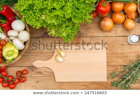 colorful carrots and potatoes with cutting board stock photo © ozgur