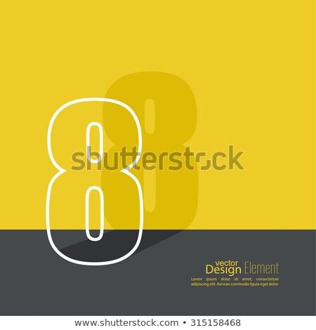 логотип зеленый числа восемь 3D вектора Сток-фото © popaukropa