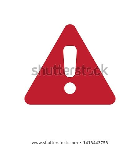 exclamation icon on white background Stock photo © nickylarson974