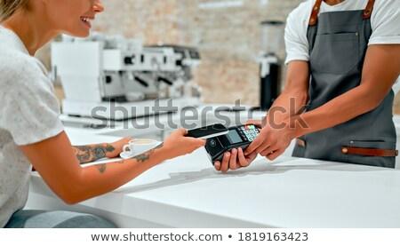 Kredi kartı okuyucu yalıtılmış beyaz hareketli Stok fotoğraf © magraphics