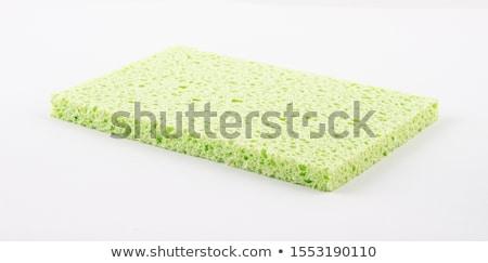 Yeşil mutfak sünger beyaz temizlemek nesne Stok fotoğraf © Digifoodstock