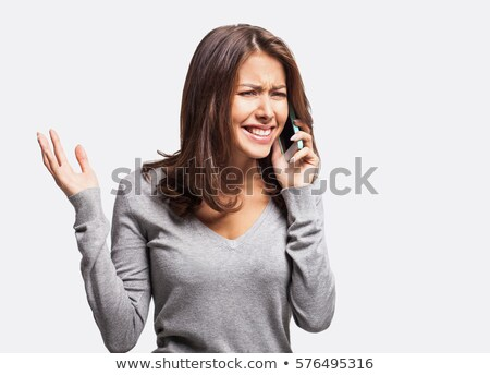 Stockfoto: Verwonderd · zakenvrouw · praten · lopen · beneden