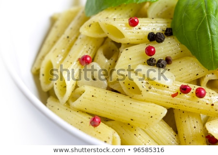 Stock photo: penne rigate aglio, olio e peperoncino
