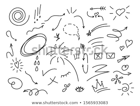 Doodles drawing for arrows Stock photo © bluering