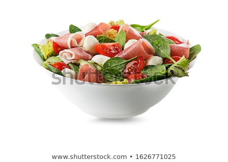 Salad with mozzarella Stock photo © user_11224430