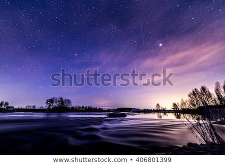 Vallende ster nachtelijke hemel ruimte nacht star donkere Stockfoto © orensila