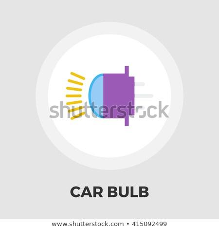 Xênon carro lâmpada ícone vetor longo Foto stock © smoki