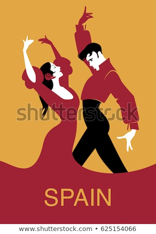 İspanyolca çift dans flamenko örnek kız Stok fotoğraf © adrenalina