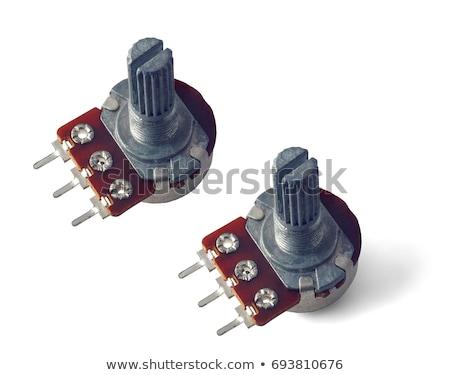 Macro of a variable resistor Stock photo © pashabo