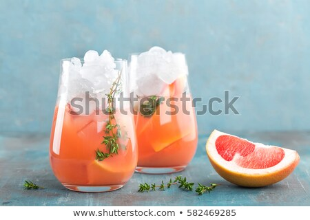 grapefruit · gin · cocktail · drinken · ijs - stockfoto © yelenayemchuk