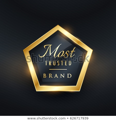 most trusted brand golden label and badge vector symbol Stock photo © SArts