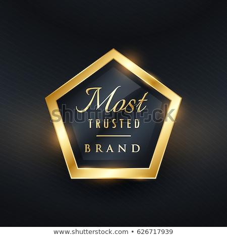 marca · dourado · etiqueta · distintivo · conjunto - foto stock © sarts