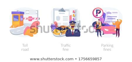 トール 駐車場 実例 車 都市 警察 ストックフォト © adrenalina