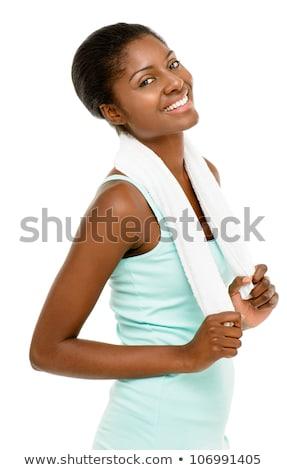 genç · güzel · kadın · yalıtılmış · beyaz - stok fotoğraf © iordani