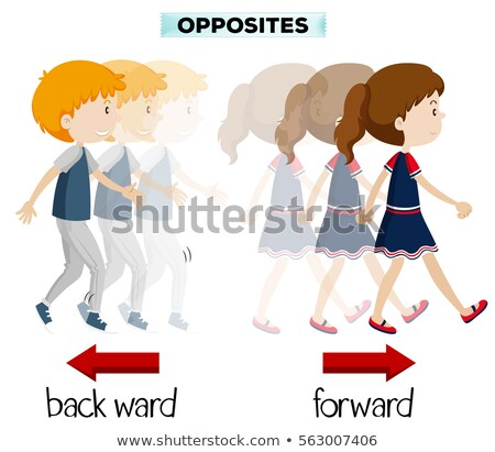 Opposite wordcard for forward and backward Stock photo © bluering