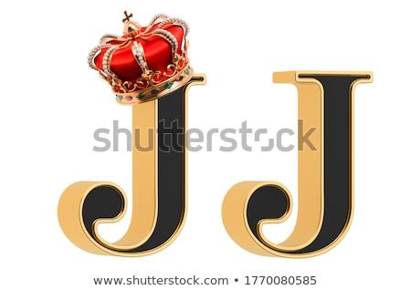 Gemstones alphabet, letter J. Isolated on white background. Stock photo © pashabo