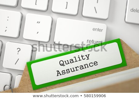 file card with quality assurance 3d rendering stock photo © tashatuvango