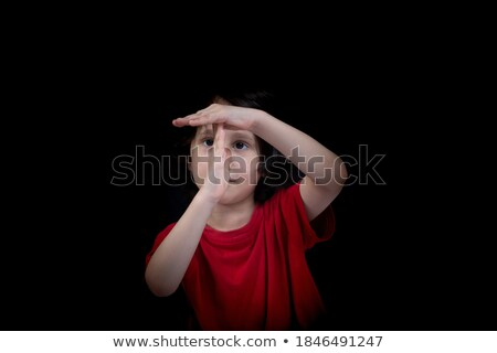 boy making a timeout hand gesture stock photo © wavebreak_media