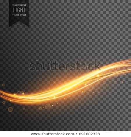 neon light streak transparent effect vector background Stock photo © SArts