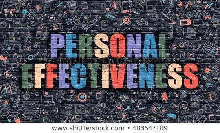 Personal Effectiveness Concept. Multicolor on Dark Brickwall. Stock photo © tashatuvango
