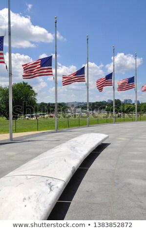 drapeau · américain · Washington · DC · drapeaux · respect - photo stock © qingwa