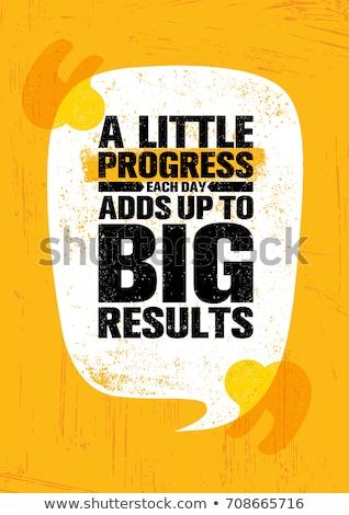 Creatieve motivatie citaat vector typografie Stockfoto © balasoiu