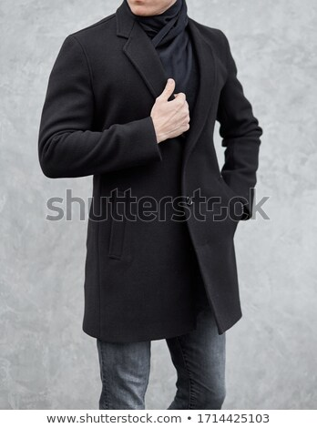 Man wearing brown overcoat Stock photo © bluering