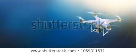 Stok fotoğraf: Uçuş · dört · an · gün · batımı · bulutlar · model
