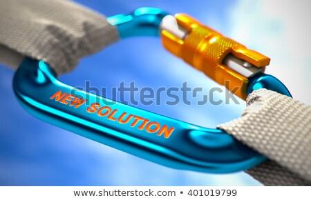 New Solution on Blue Carabine with White Ropes. Stock photo © tashatuvango