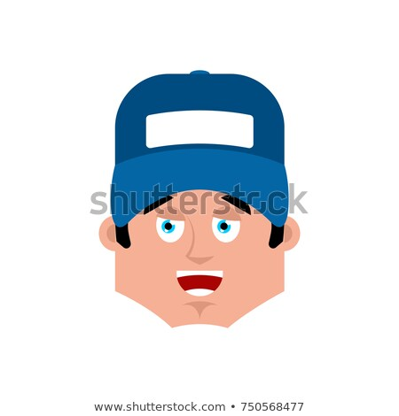 plumber happy emotion avatar fitter merry emoji face vector il stock photo © popaukropa