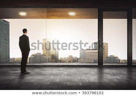 Business man standing, buildings behind Stock photo © IS2