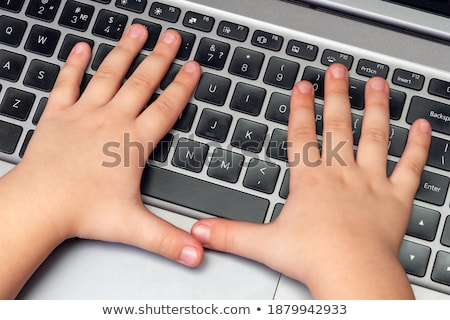 Hand Finger Press Distance Learning Keypad. Stock photo © tashatuvango