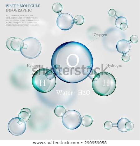 água · ecologia · biologia · bioquímica · 3D - foto stock © user_11870380