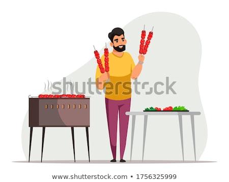 gezonde · vers · voedsel · plaat · groenten · tabel · doek - stockfoto © bluering