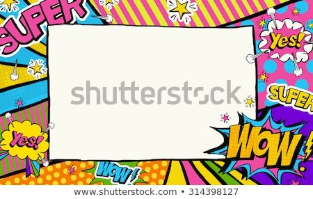 Pop art background and comic bubble. Place for text. Stock photo © popaukropa