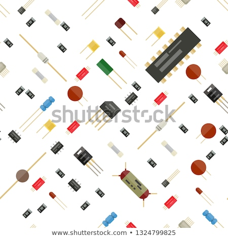 Electronic components in retro style Stock photo © tracer