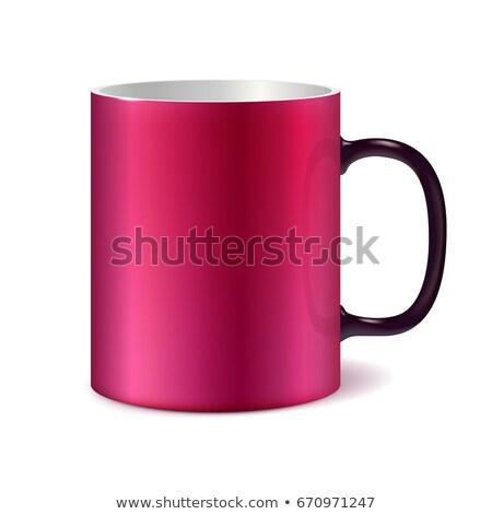 Rose blanche grand céramique tasse noir Photo stock © ESSL