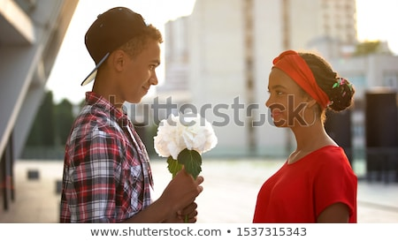 Boys flirting with girls Stock photo © IS2