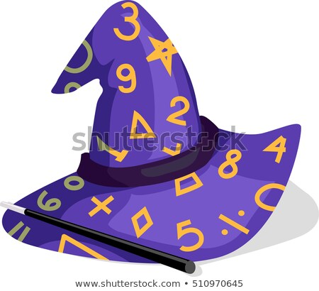 Math Purple Hat иллюстрация украшенный номера Сток-фото © lenm