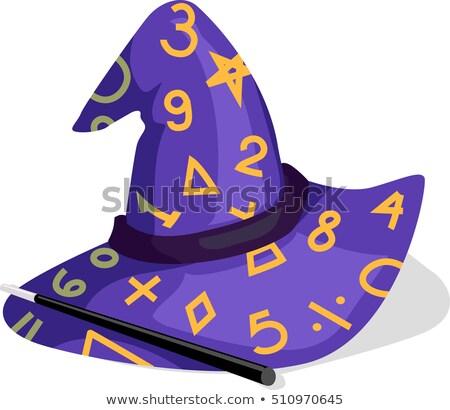 Math Purple Wizard Hat Stock photo © lenm