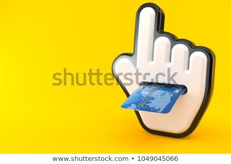 ビジネス メッセージ 青 カーソル 3D 矢印 ストックフォト © tashatuvango