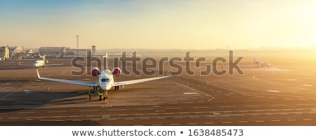 Commercial passengers airplane Stock photo © mechanik